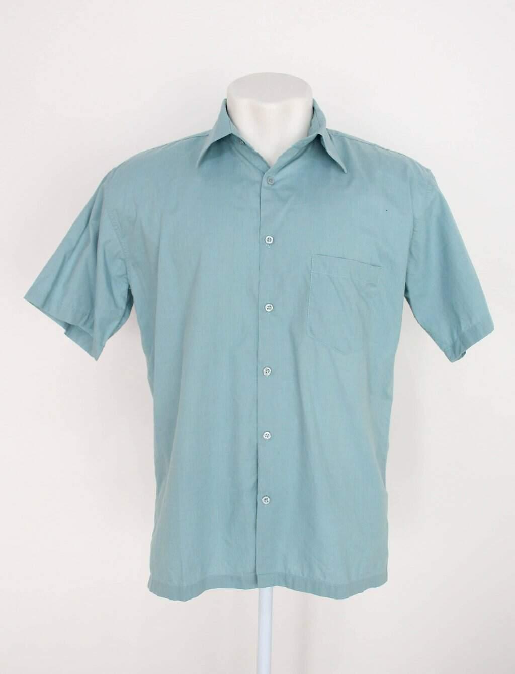 Camisa cea masculina azul