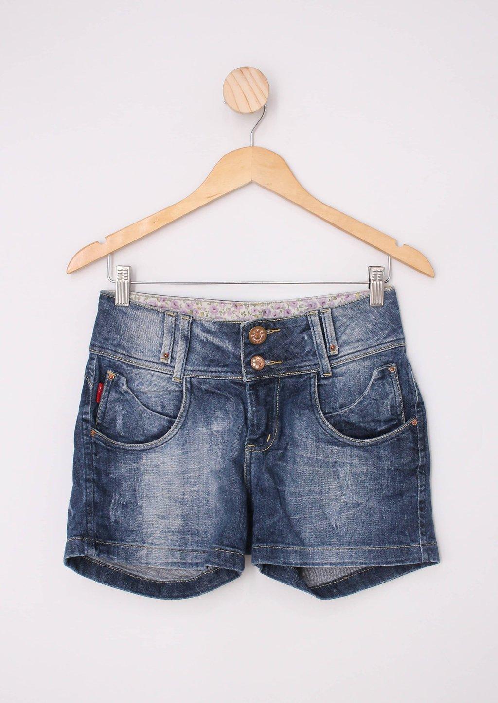 Shorts Jeans Feminino Braid