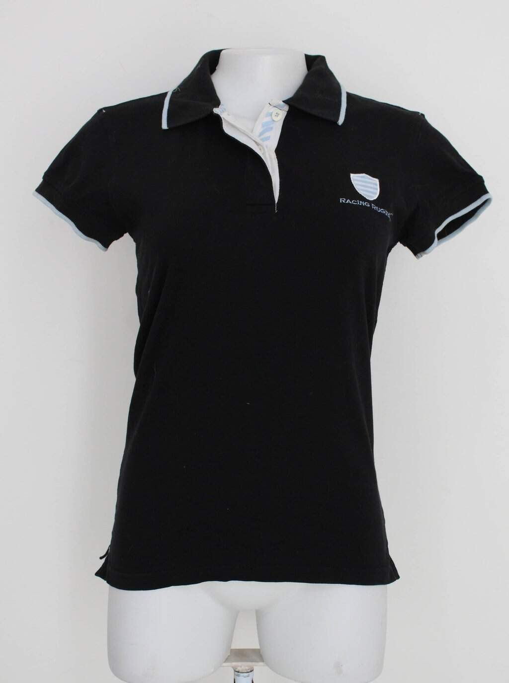 Camisa Polo Racing Rugby Feminina Preta