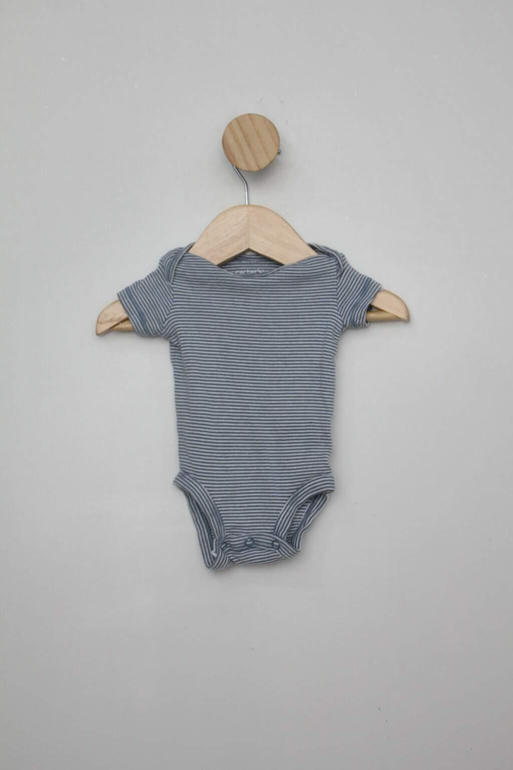 Body Infantil Riachuelo Listrado Azul/branco