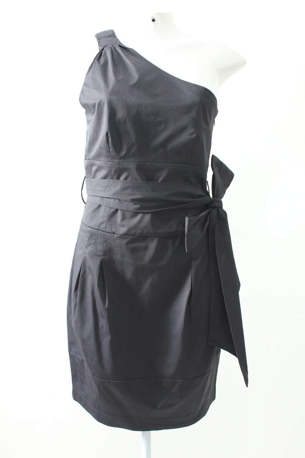 Vestido Ombro Unico Preto