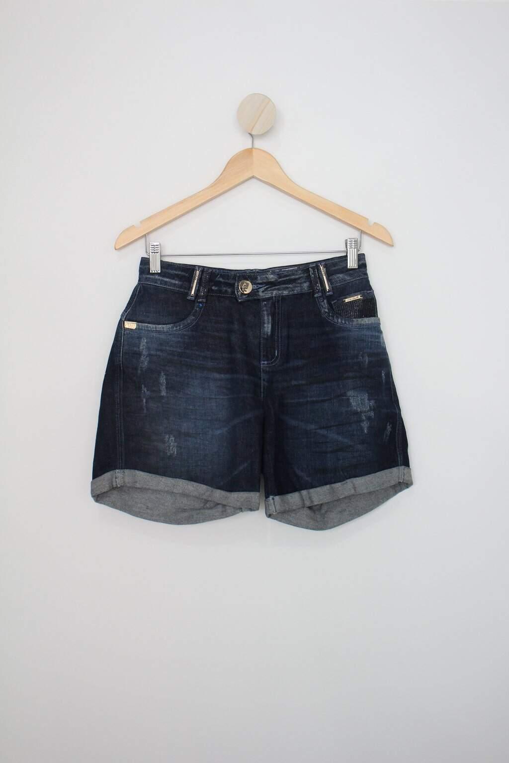 Shorts Pit Bull Jeans Feminino Azul