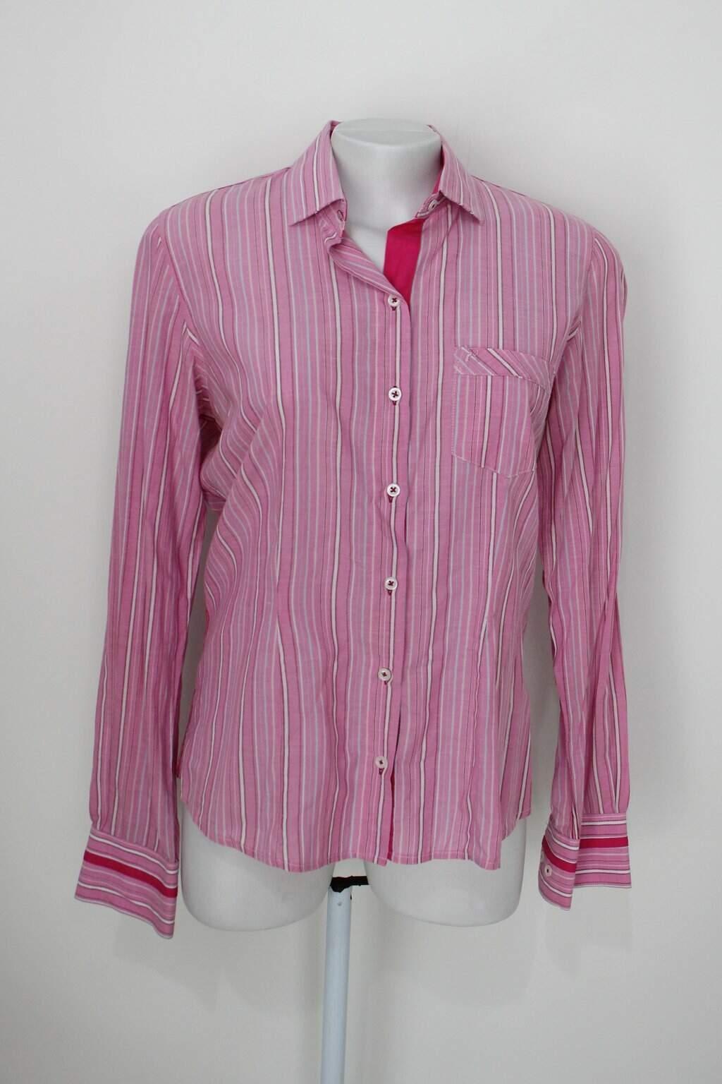 Camisa Rabbit Feminina Listrada Rosa