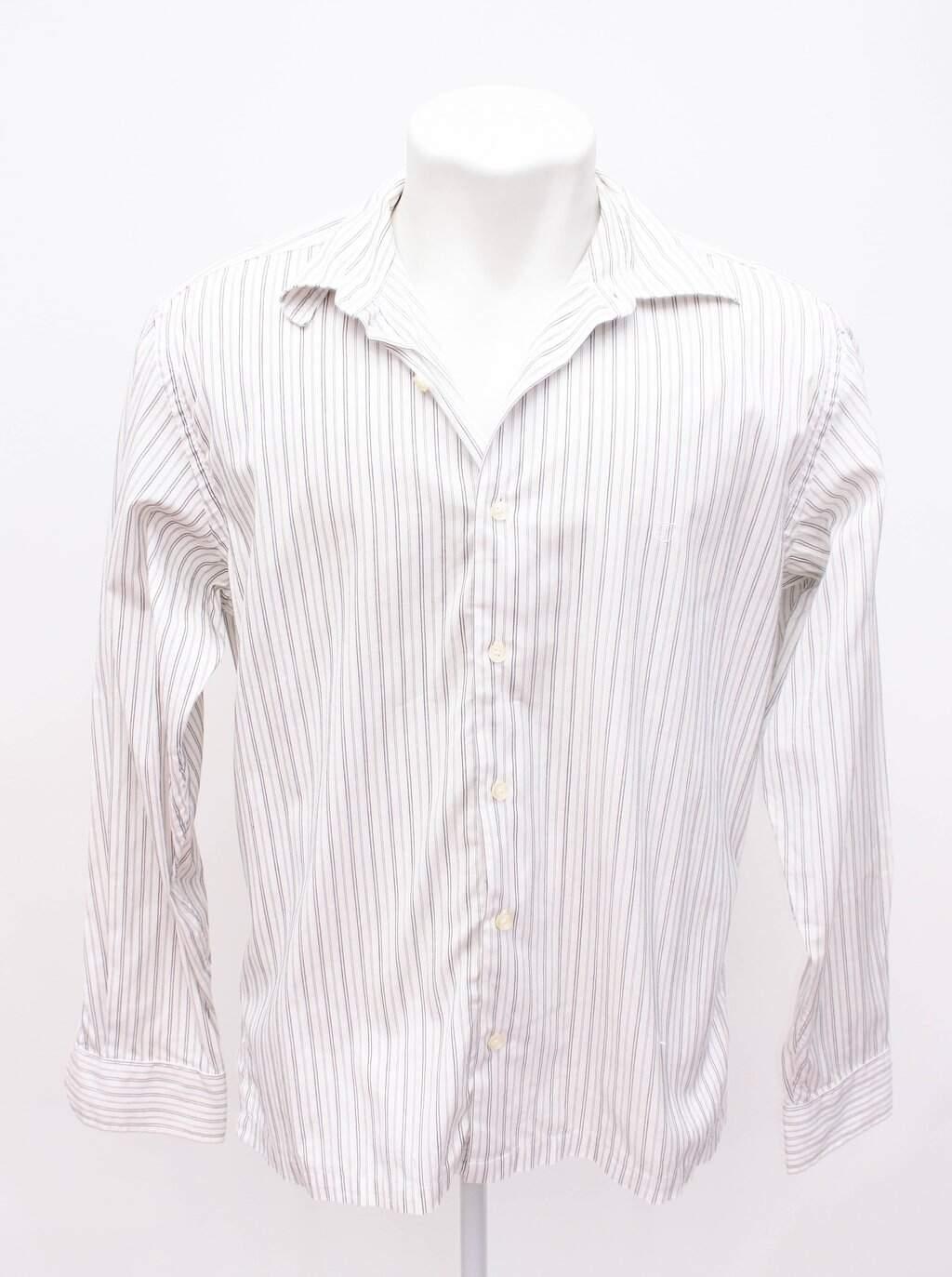 Camisa Social Branca Com Listras Individual Sport