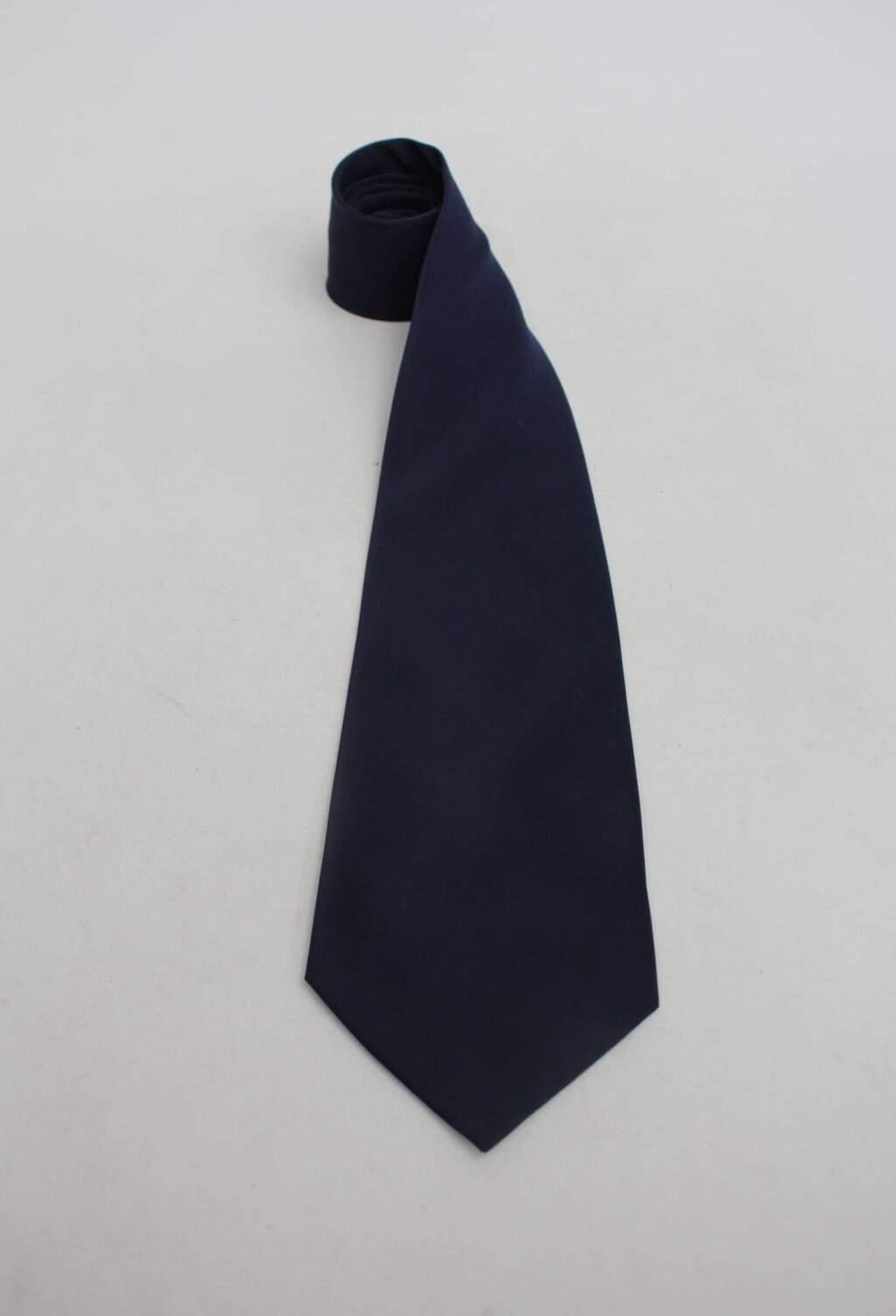 Gravata lisa azul joun