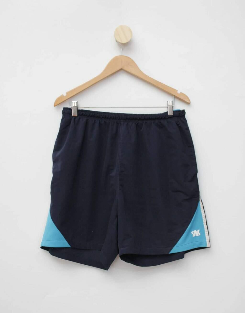 Oferta Bermuda de academia netshoes masculina azul por R$ 25