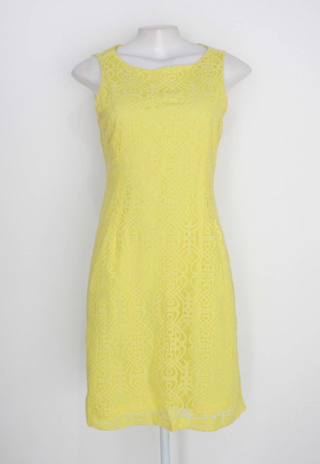 Vestido riachuelo feminino amarelo com forro