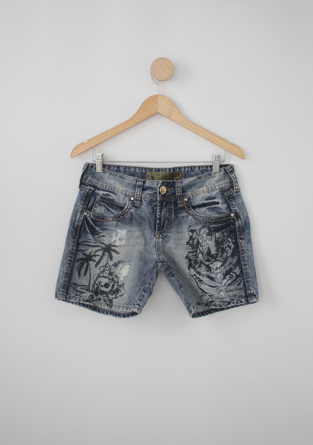 Shorts colcci feminino jeans estampado