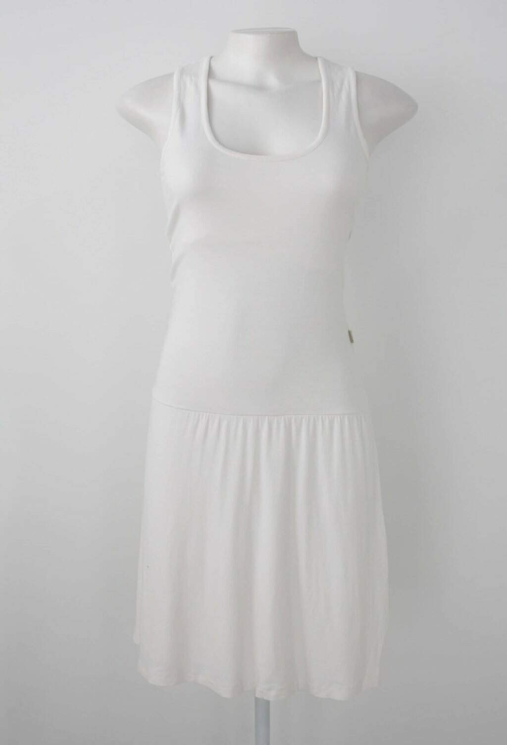 Vestido pango feminino off-white com Renda e Meio forro