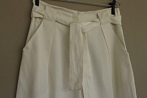 Calça Branca Amarração Graça Ottoni  _foto principal