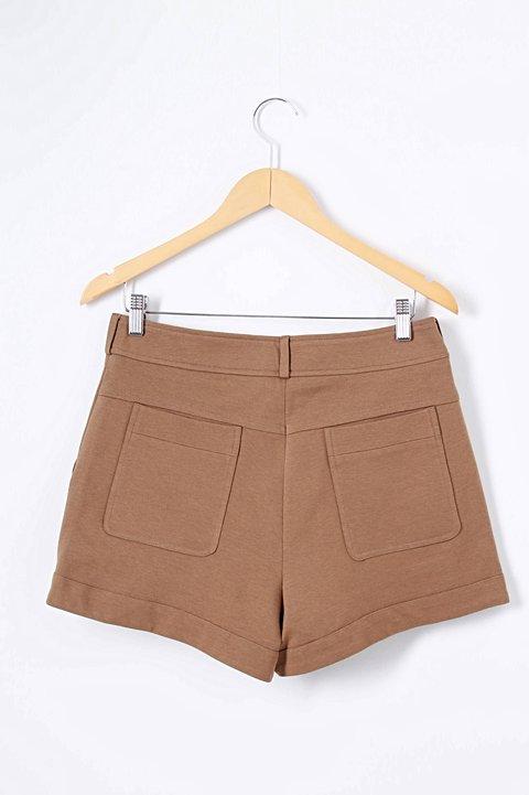 Shorts Marrom Paul & Joe_foto de frente