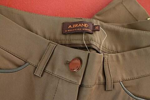 Calça A.Brand Marrom _foto da etiqueta
