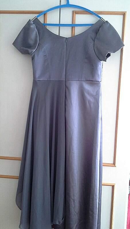 Vestido de Seda Silvia Bevilaqua_foto da etiqueta