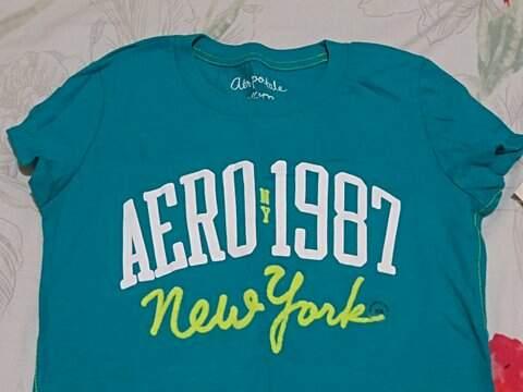 Camiseta Aéropostale Azul_