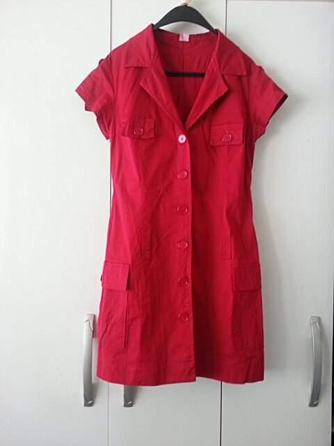 Vestido Curto Vermelho _foto de frente