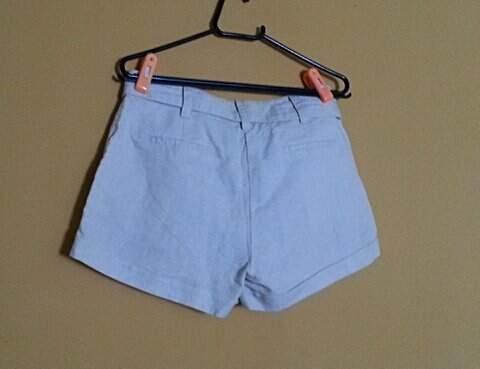 Shorts de Linho _foto de detalhe