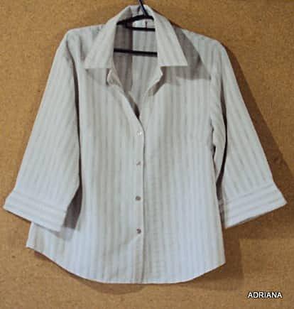 Camisa bege e marrom _foto principal