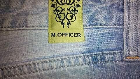 Calça Jeans M. Officer _foto de costas