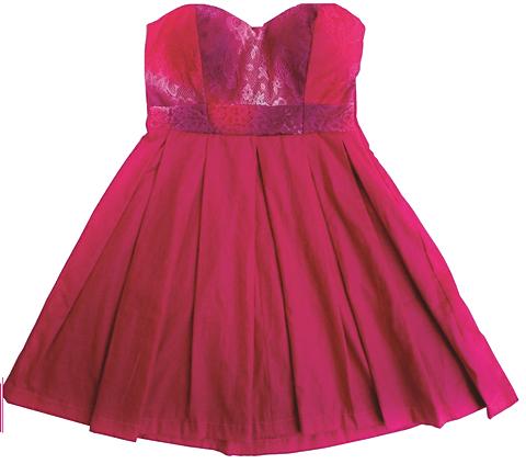 Vestido Godê Rosa_