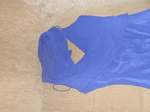 Vestido de Festa Azul de Alcinha_foto da etiqueta