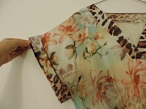 Vestido Floral e Animal Print_foto de detalhe