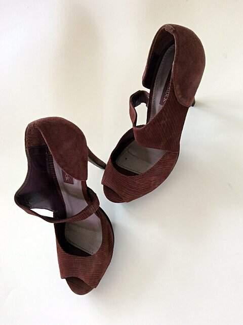 Sandália Vinho Shoestock_foto de detalhe