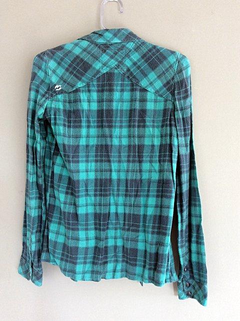 Camisa Xadrez Billabong _foto de costas