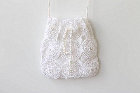 Bolsa de Crochê Em Círculos Artesanal_