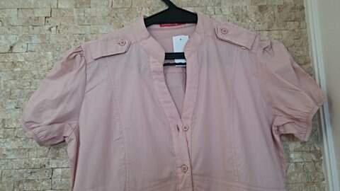 Vestido Chemise Rosa _foto de detalhe