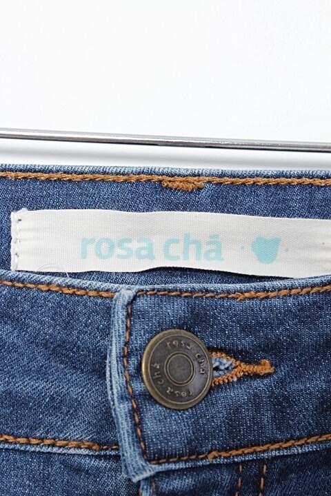 Shorts Jeans Rosa Chá _foto de costas