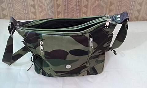 Bolsa Estampa Camuflagem _foto de frente