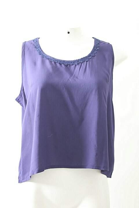 7971682785ce0 Blusa Azul Marinho Renda - compre por menos