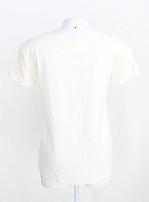 Blusa simulassão feminina off-white com Paetê_foto de costas