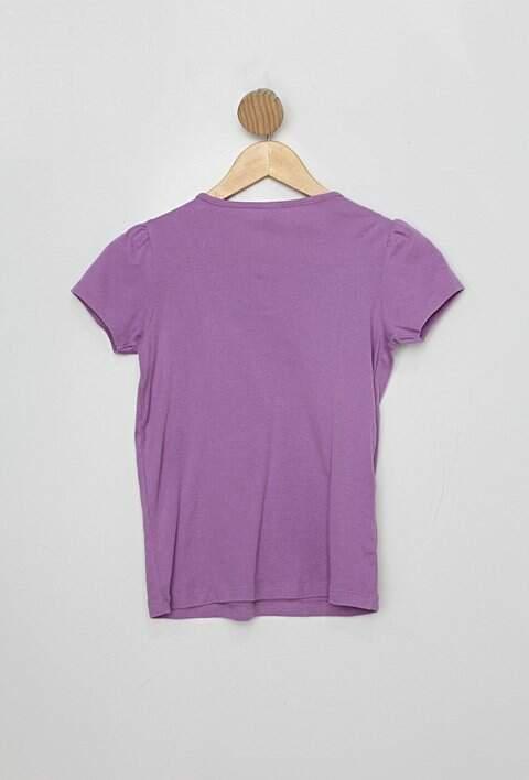 Blusa Infantil lilás com bordado_foto de costas