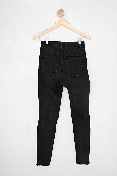 Calça Jeans zara feminina preta_foto de costas