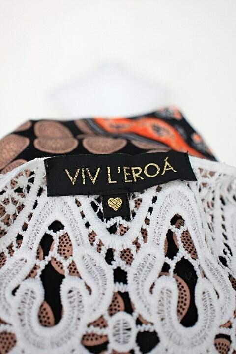 Blusa viv l'eroá feminina estampada com Renda_foto de detalhe