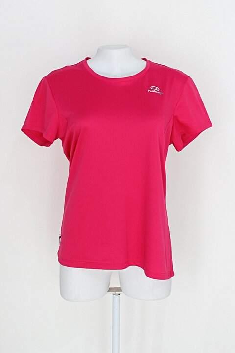 Camiseta kalenji feminina rosa choque com Silk_foto principal