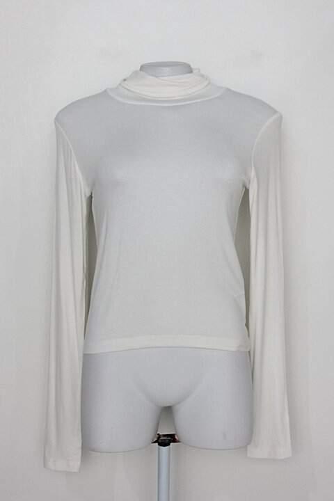 Blusa de Malha gola alta zara feminina off-white_foto principal