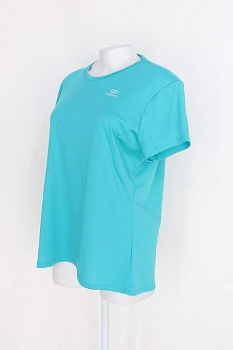 Camiseta kalenji feminina azul _foto de detalhe