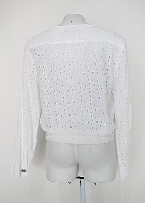 Jaqueta zipper zipper feminina branca_foto de costas