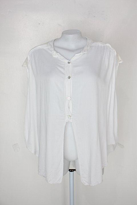 Blusa feminina branca com Aplique_foto principal