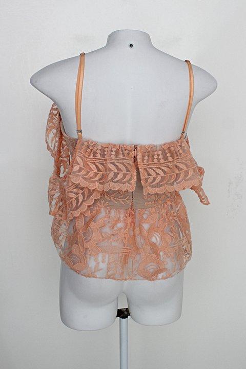 Blusa tuart feminina laranja_foto de costas