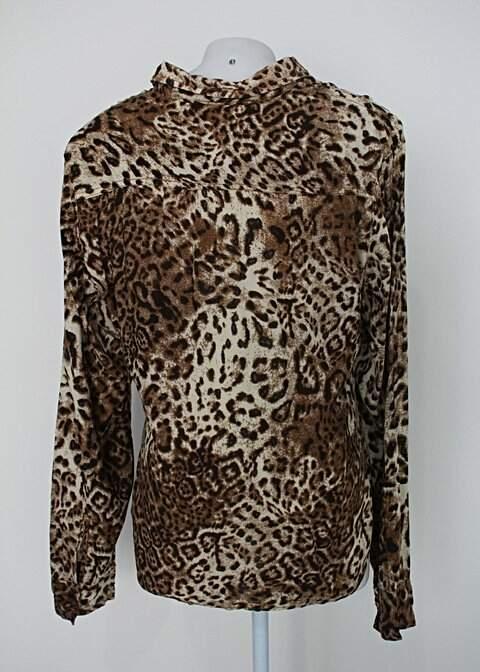 Camisa riachuelo feminina animal print_foto de costas