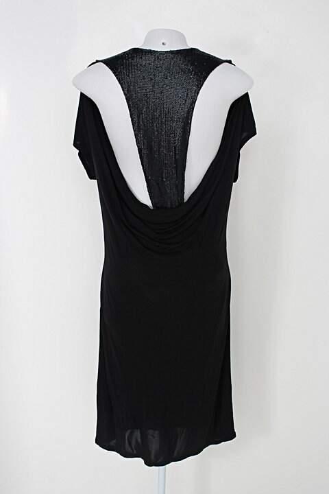Vestido le lis blanc feminino preto_foto de costas