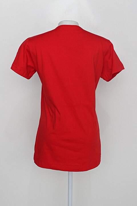 Camiseta chico rei feminina vermelho_foto de costas