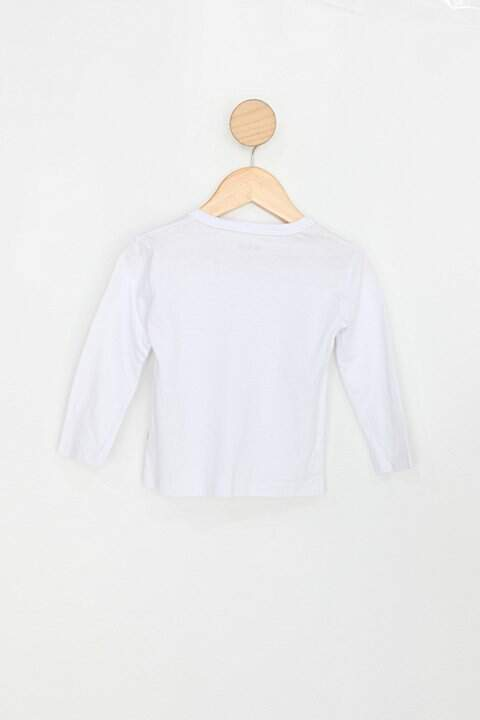 Blusa Infantil fakini branco_foto de costas