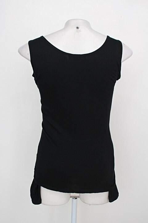 Blusa top feminina estampada com Paetê_foto de costas