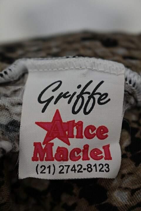 Vestido griffe alice maciel feminino com estampa animal print_foto de detalhe