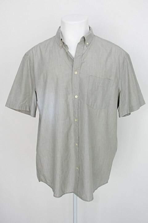 Camisa h&m masculina verde mesclado_foto principal