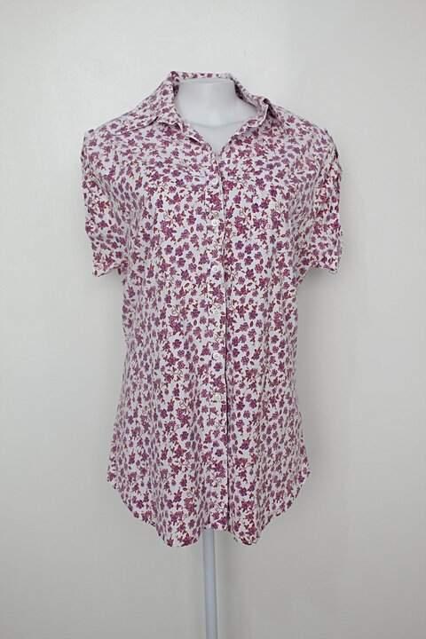 Camisa mena feminina branca estampada_foto principal
